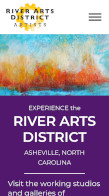 Mobile view of website portfolio item for the River Arts District of Asheville